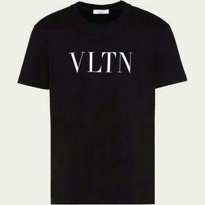 Valentino Uomo Vltn T-shirt Man Black 100% Cotton